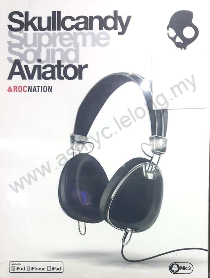 SKULLCANDY AVIATOR OVER-EAR WIRED HEADSET (S6AVFM-156) BLK