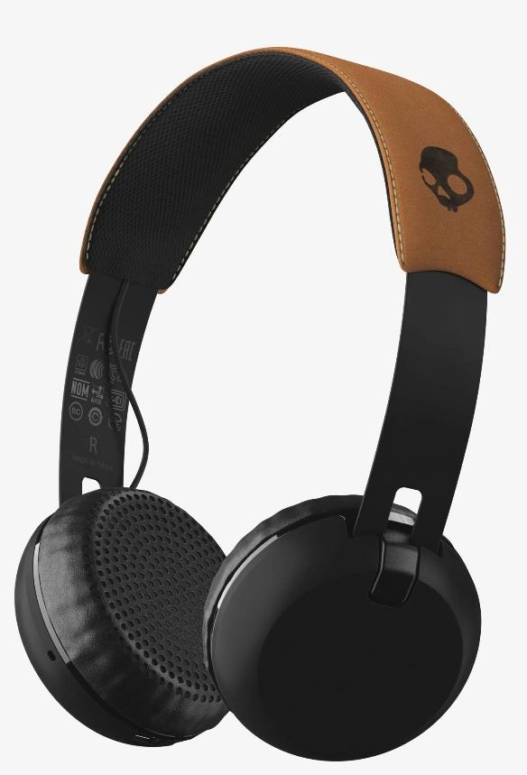 SKULLCANDY GRIND WIRELESS BT HEADPHONE (BLK) S5GBW-J472