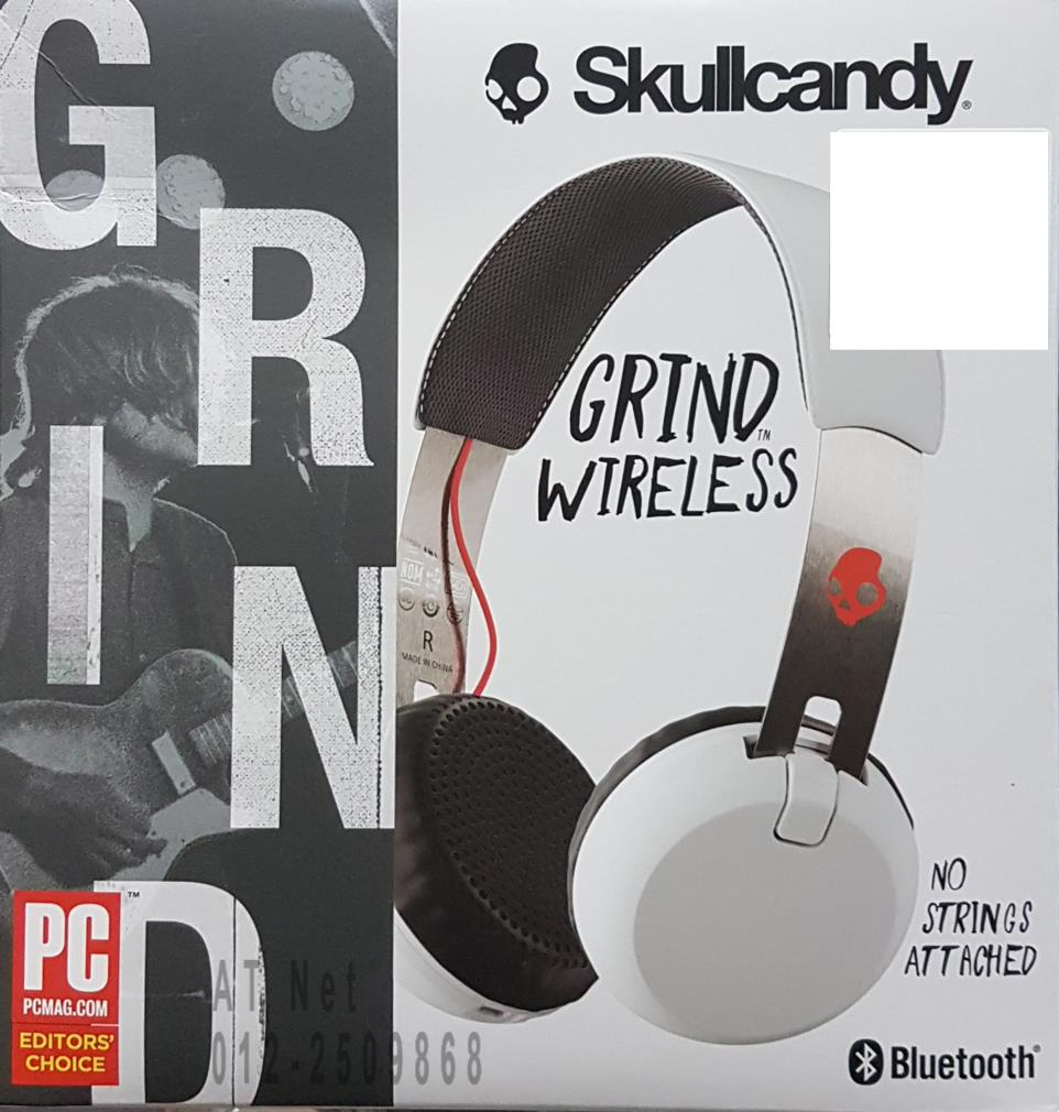 SKULLCANDY GRIND WIRELESS BT HEADPHONE (WHT) S5GBW-J472