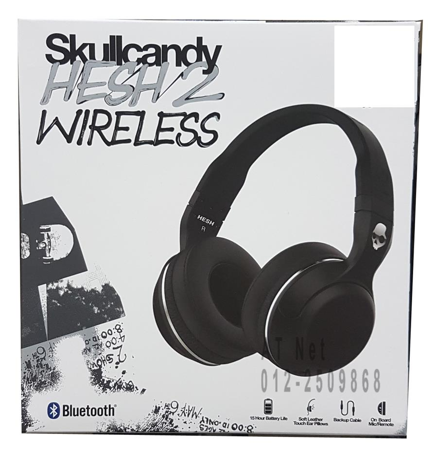 SKULLCANDY HESH 2 WIRELESS BT OVER EAR HEADSET (BLK) S6HBGY-374