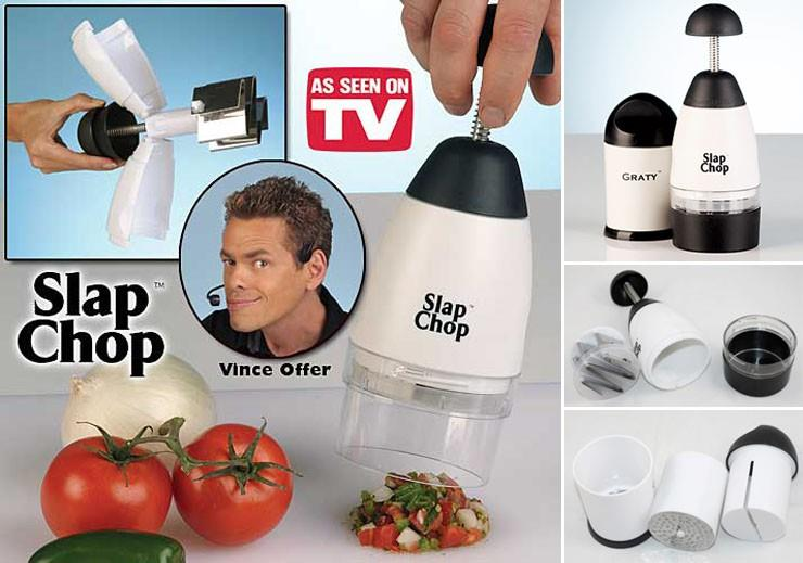 *Slap Chop^ N Grater Multipurpose Food Chopper FREE CHEESE GRATER