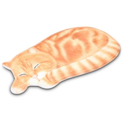 Sleeping Cat Shaped Mat Bedroom Bat