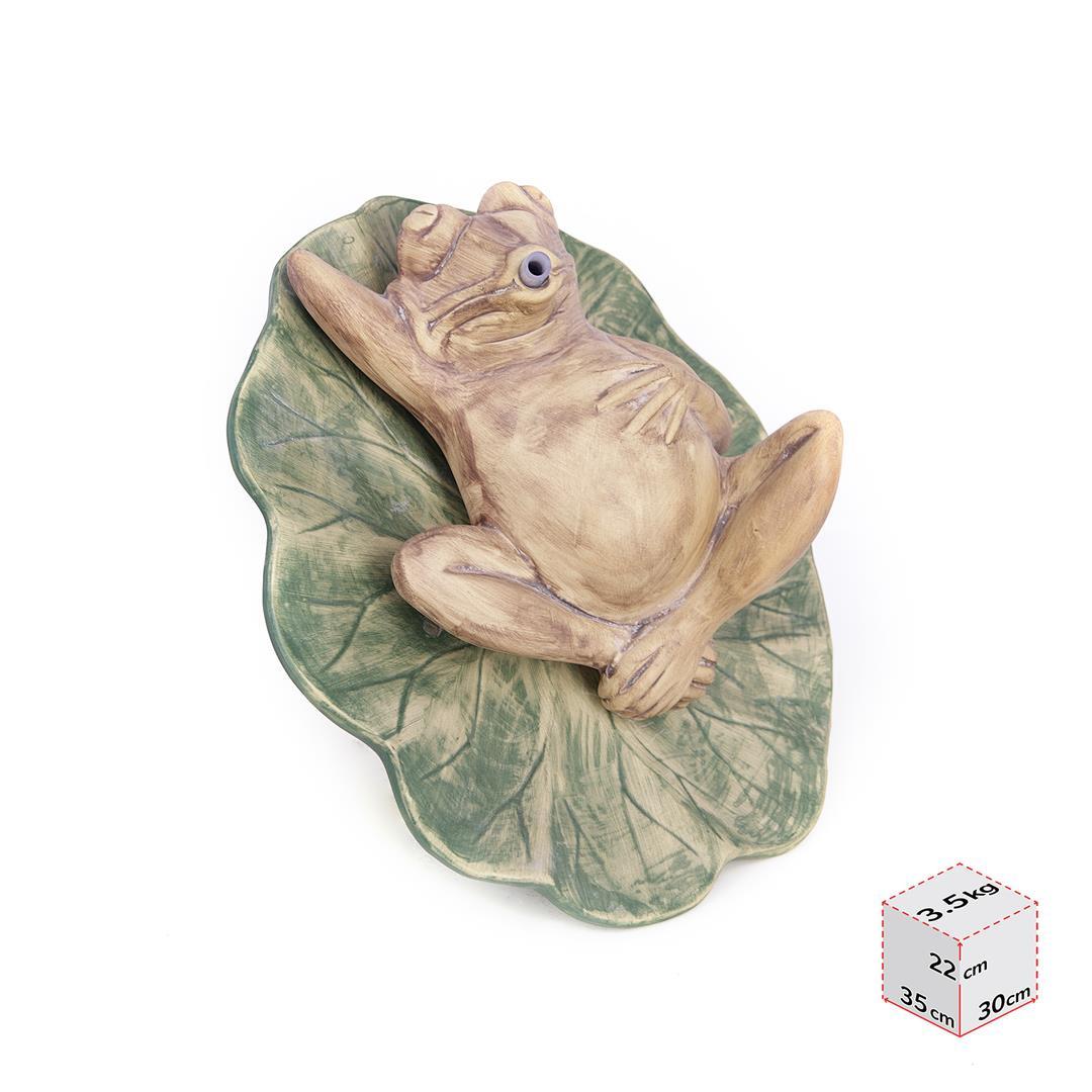 Sleeping Frog Garden Statue For Outdoor Decor