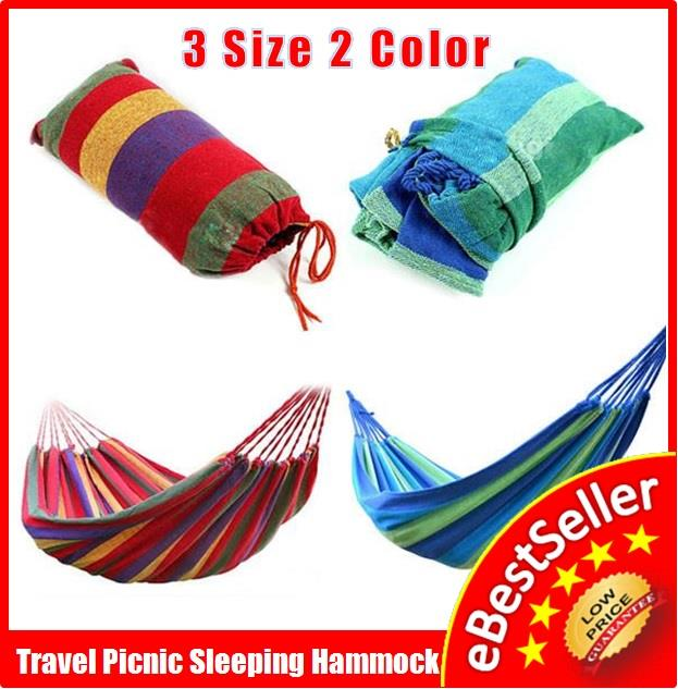 Sleeping Hammock Outdoor Camping Picnic Buaian Swing FREE Carry Bag