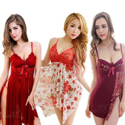 Sleepwear Babydoll Dress G-String Sexy Lingerie Pajamas Nightwear S1