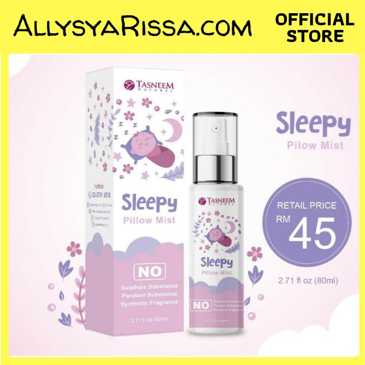 Sleepy Pillow Mist by Tasneem Naturel (Produk Tempatan)