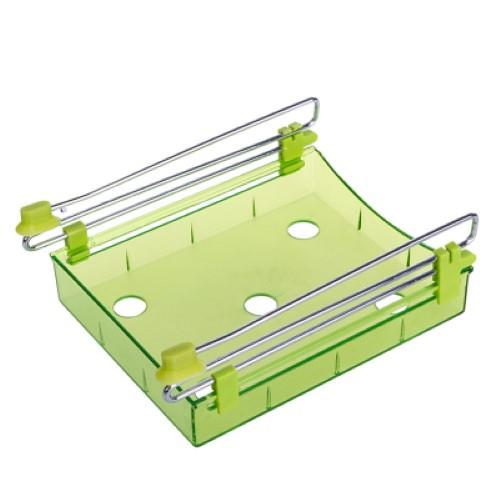 Slide Kitchen Fridge Space Saver Organizer Storage Rack (Green)