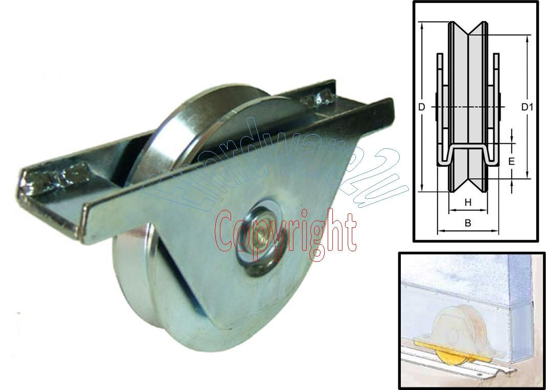 Sliding gate bottom roller wheel v end  am