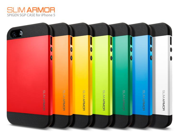 the latest 97aad 29a03 SLIM ARMOR SPIGEN SGP Case For iPhone 5 5S 5G Phone Bags Hard Back Cov