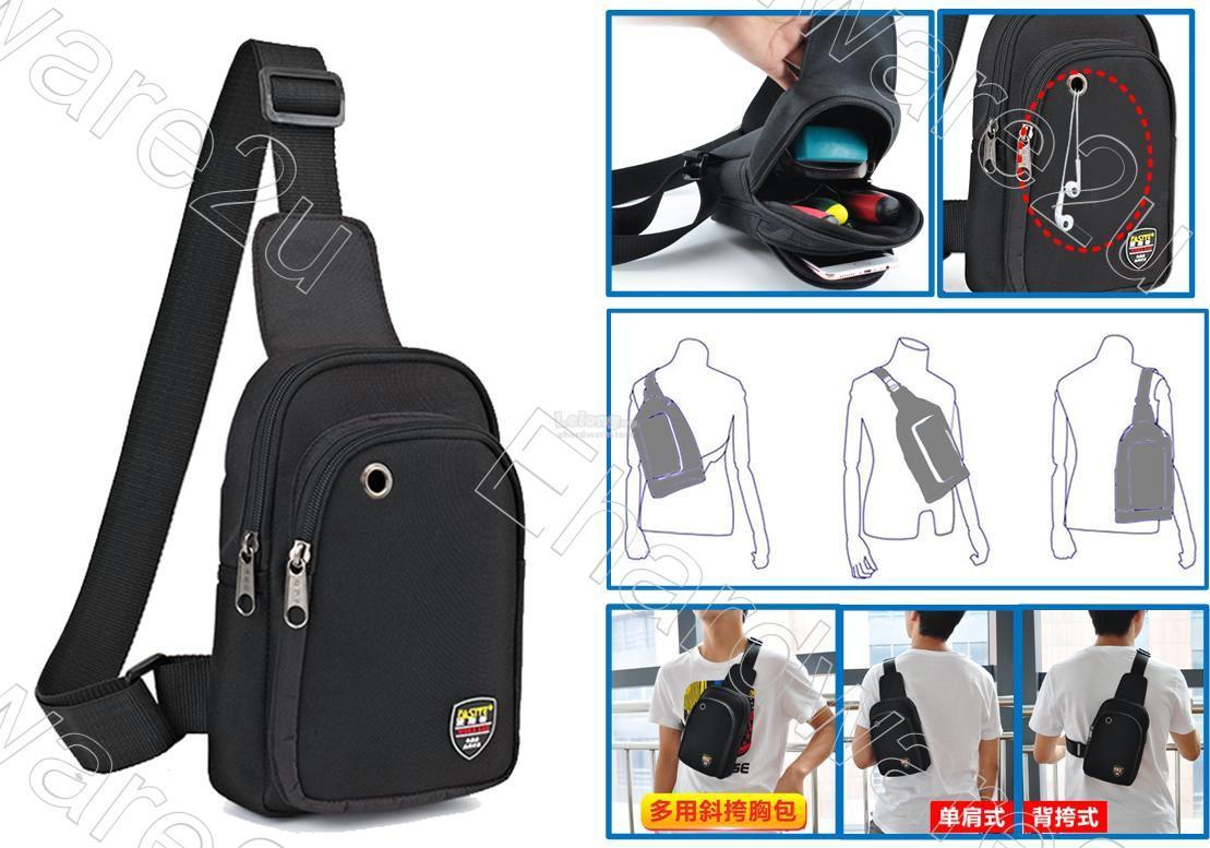 Sling Chest Shoulder Multi Pocket Tool Bag Pouch Fst090
