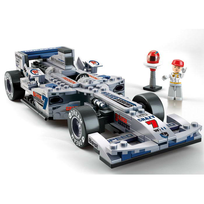 sluban f1 1 24 racing car silver arr end 3 3 2020 10 23 pm. Black Bedroom Furniture Sets. Home Design Ideas