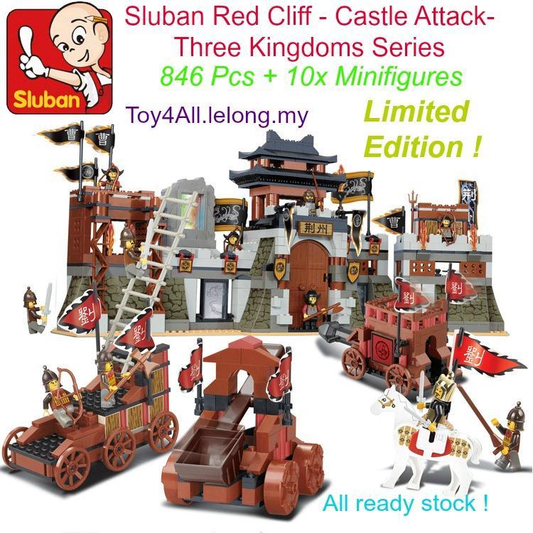 sluban red cliff castle attack three kingdoms lego brickfree shipping