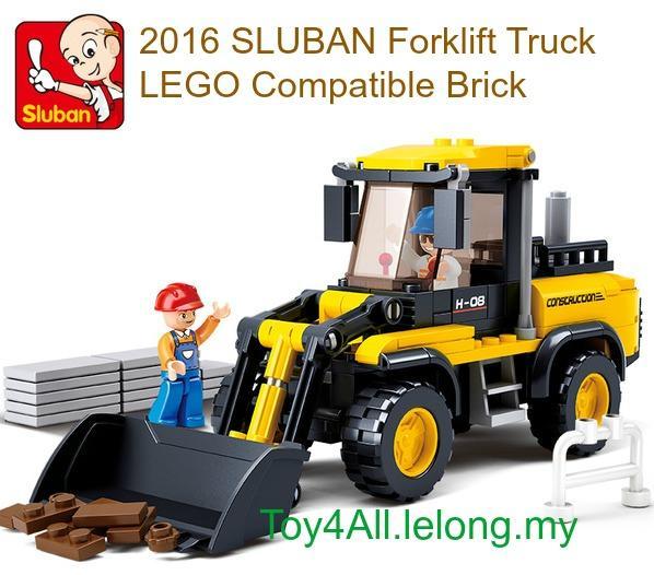 SLUBAN TOWN-CONSTRUCTION FORKLIFT TRUCK LEGO BRICK (EXTREME DEAL)