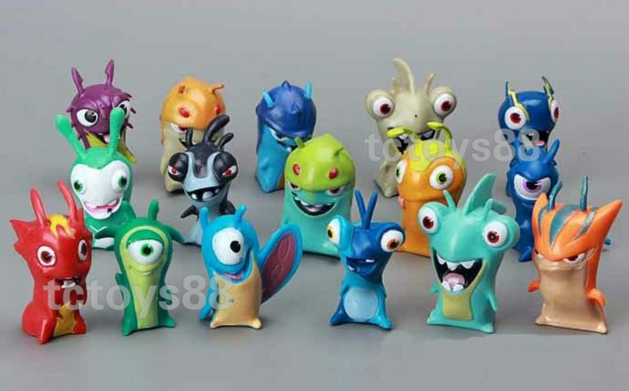 SLUGTERRA FIGURE. Slugterra Toys. Cake Topper. 16pcs set. New