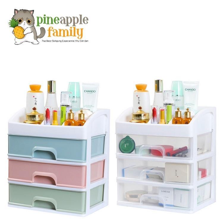 Small Cabinet Storage Box 4 Tier Desk Organizer Make Up Stationary Box. U2039 U203a