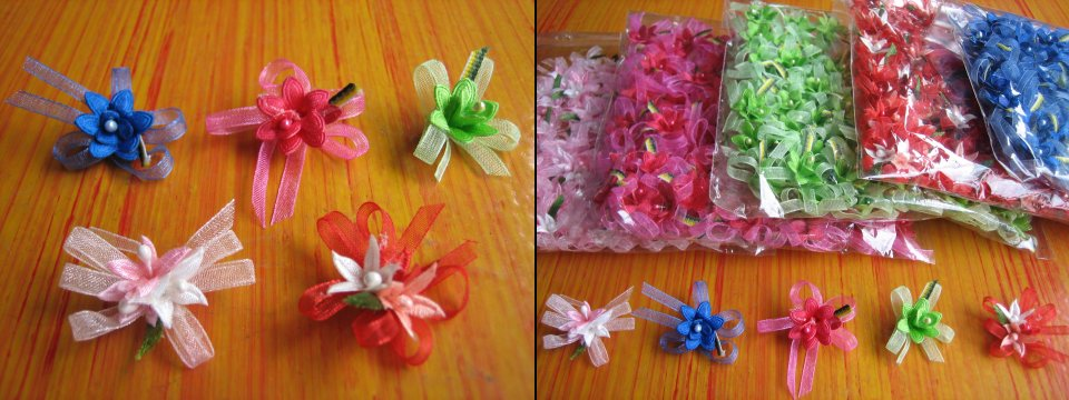 <B>SMALL ORGANZA FLOWER SUITABLE FOR GIFTS & SOURVENIRS</B>
