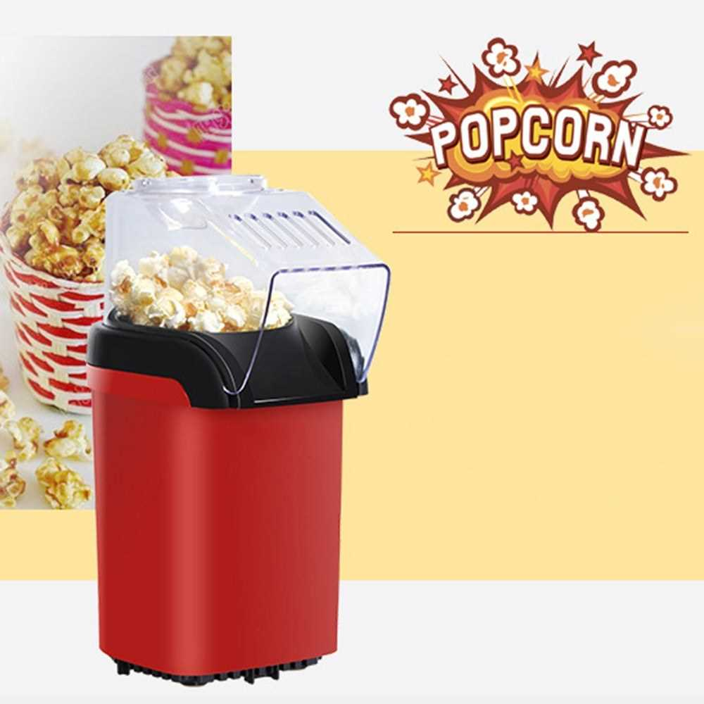 Small Popcorn Machine Household Healthy Hot Air Popcorn Popper Maker