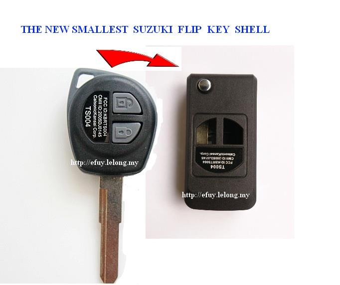 NEW Smallest SUZUKI SWIFT SX4 Flip Key Shell, Folding key shell