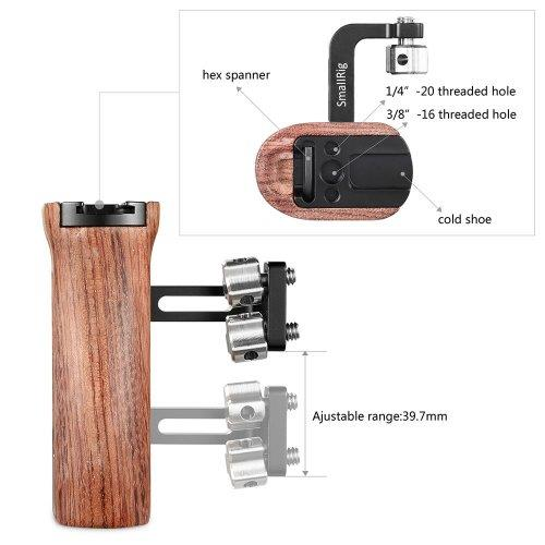 SmallRig Wooden Universal Side Handle for Cage 2093