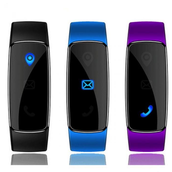 Smart Bracelet Sport Watch for Andorid / IOS - Black, Blue, Purple
