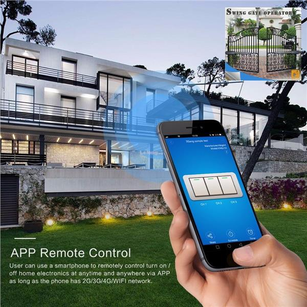 Smart Home WiFi+433Mhz Light & Fan Touch Switch+Phone Remote