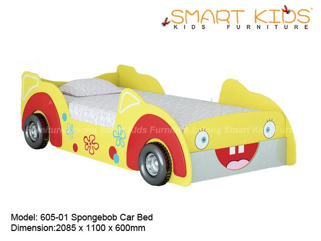 Elegant Smart Kids Furniture 605 01 Spongebob Car Bed (Knock Down)