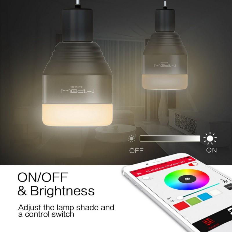 Smart LED lamp Bluetooth MIPOW Free Night Lamp Socket Plug