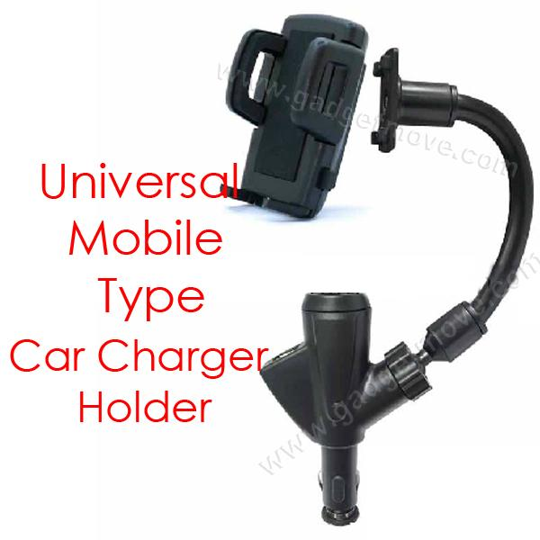 Smart Phone Type Car Charger Holder Type 2.1 A USB Port GPS PDA MP3 4
