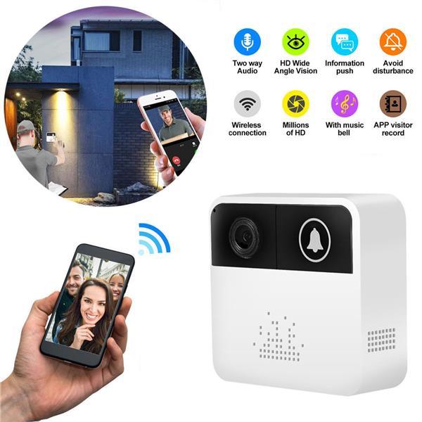 Smart Wifi Doorbell 720P IP Camera Ring Intercom By Phone App