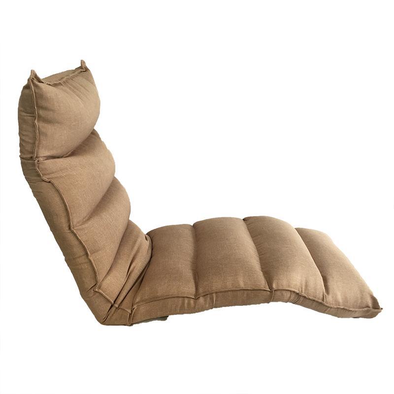 Smartux Gigato Linen Fabric Folding Futon Sofa - Beige