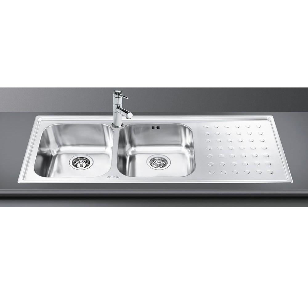 Smeg Sink LV116D-3 2 Bowls 1 Draine (end 12/17/2019 4:05 PM)