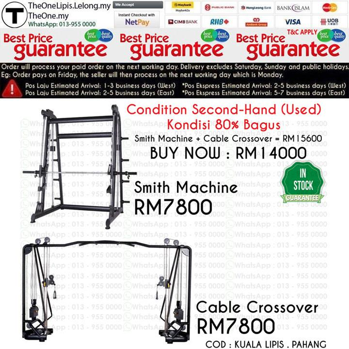 Smith Machine + Cable Crossover ( Kondisi 80% Bagus )