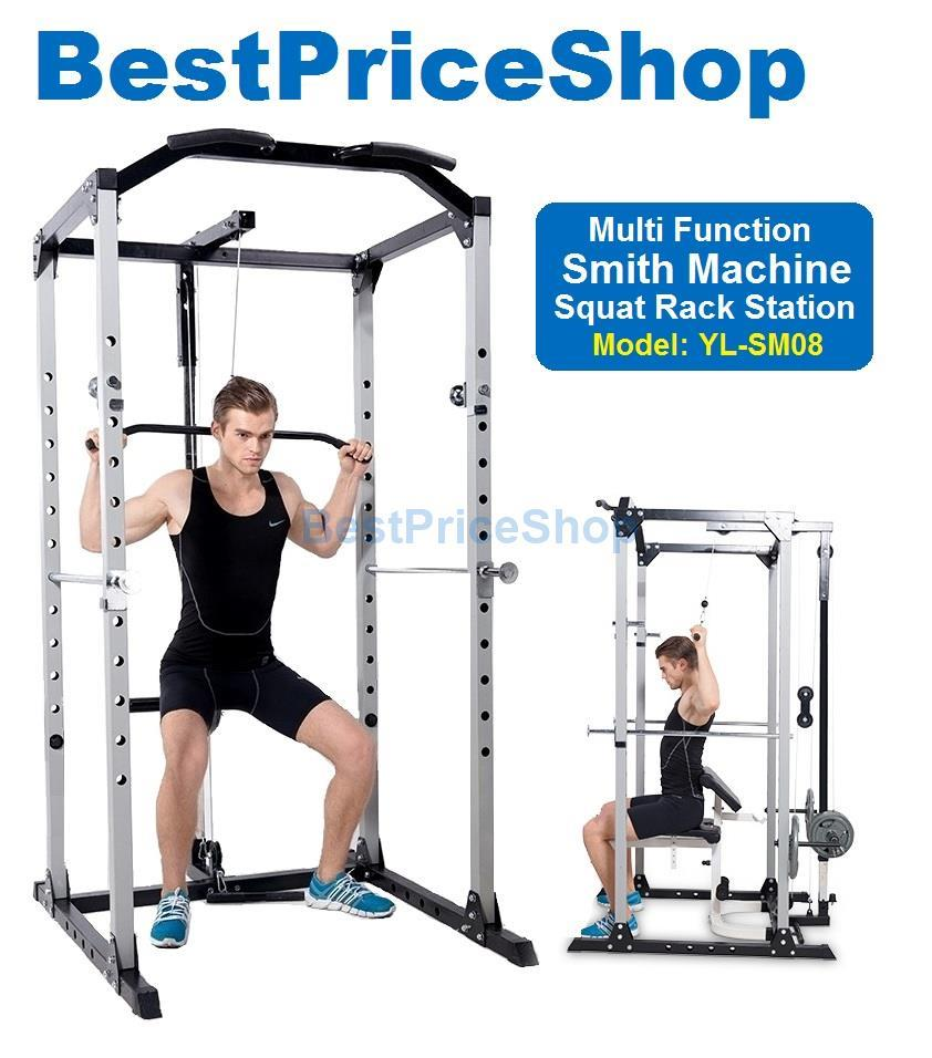 Smith machine squat rack power gym s end 5 14 2019 2 46 pm for Squat station