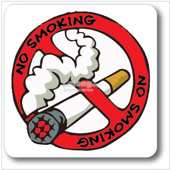 NO SMOKING ACRYLIC SIGN 110x110mm