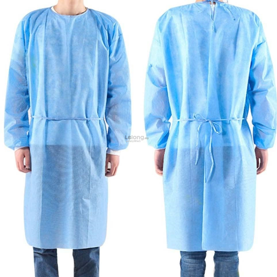 SMS Non Woven Isolation Gown / Surgical Gown 40gsm
