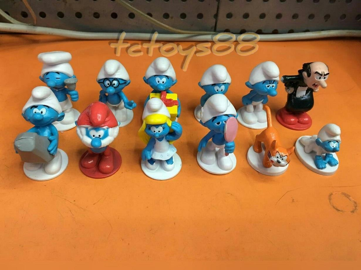 Smurf & Friends figure. Cake Topper. Smurf Figures Toy (12pc in 1) New