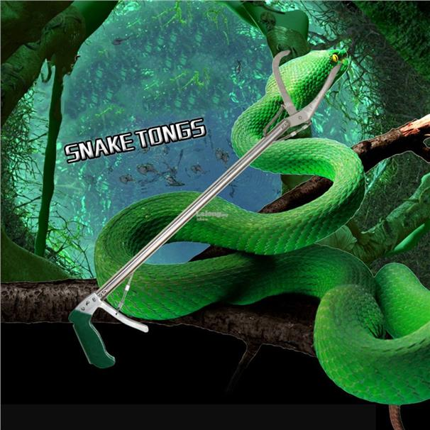 Snake Clamp 70CM Handle Tongs Catcher Stick Reptile Stick Snake Handli