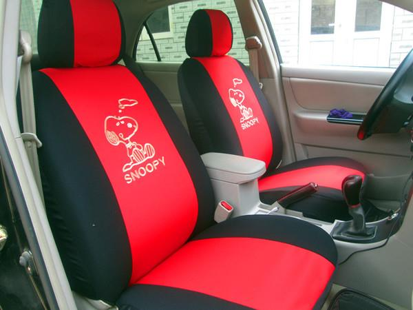 Snoopy Kitty High Quality Full Set Car Seat Cover