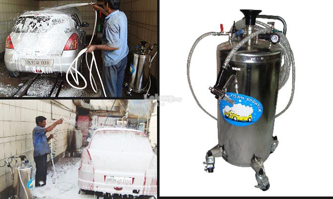 Snow Wash Tank (Foam Cleaning Machine) Stainless Steel