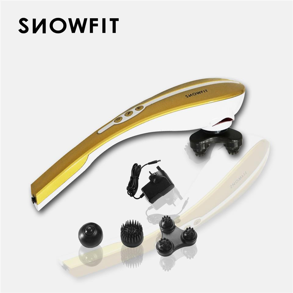 SNOWFIT SnowArm+ Rechargeable Handheld Electric Massager with Three He