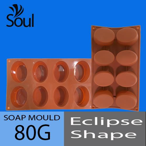 Soap Mould - 8x80G Eclipse Shape
