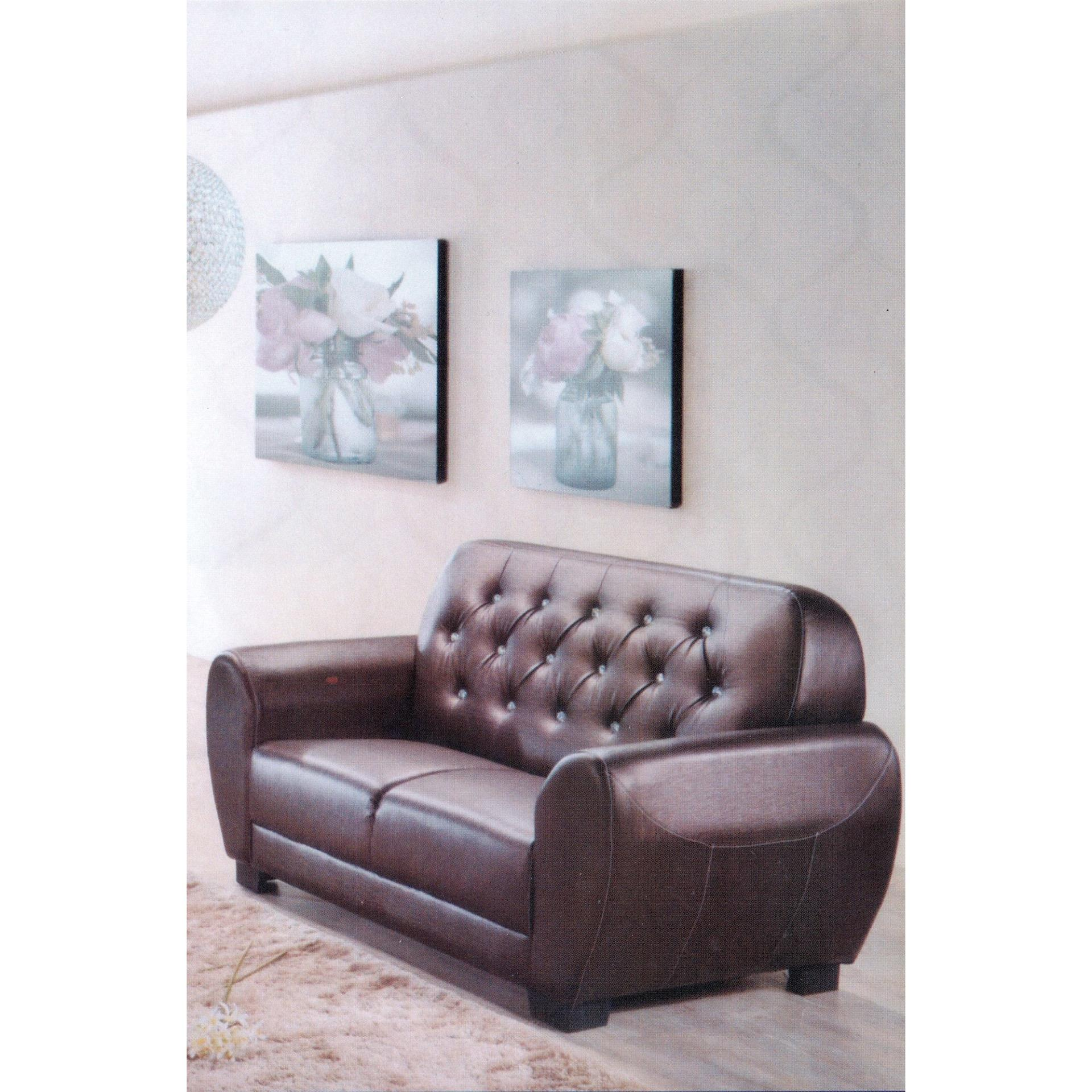Sofa 2 Seater Fully Leather Sofa Lounge Chair Relax Sofa