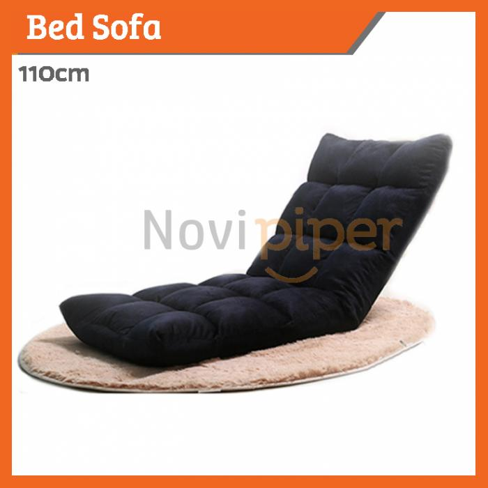 Sofa Bed Chair Premium Fabric Foam Foldable 110cm