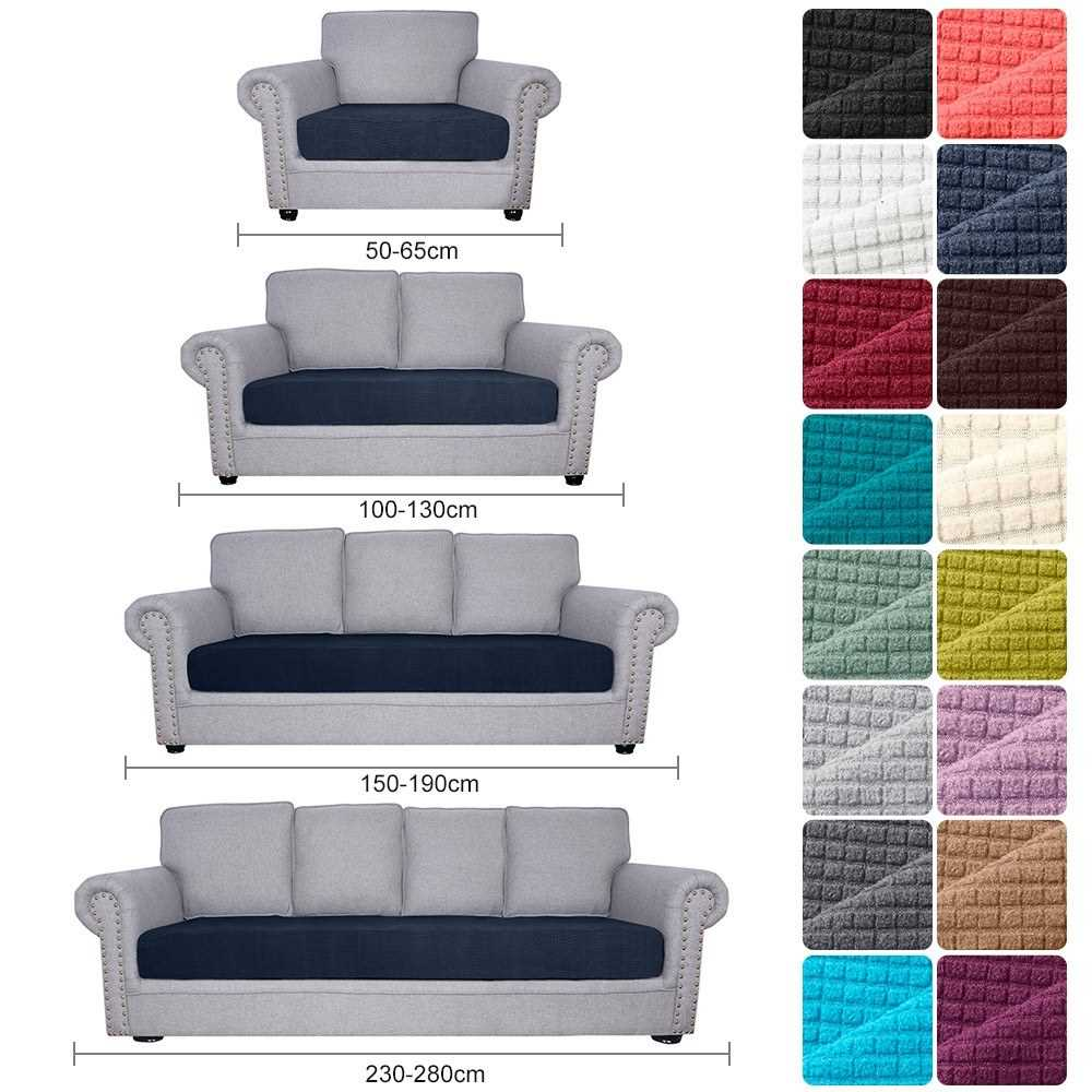 Sofa Seat Slipcovers Couch Cushion Covers 1 Seater Stretch Spandex Non Skid Ja