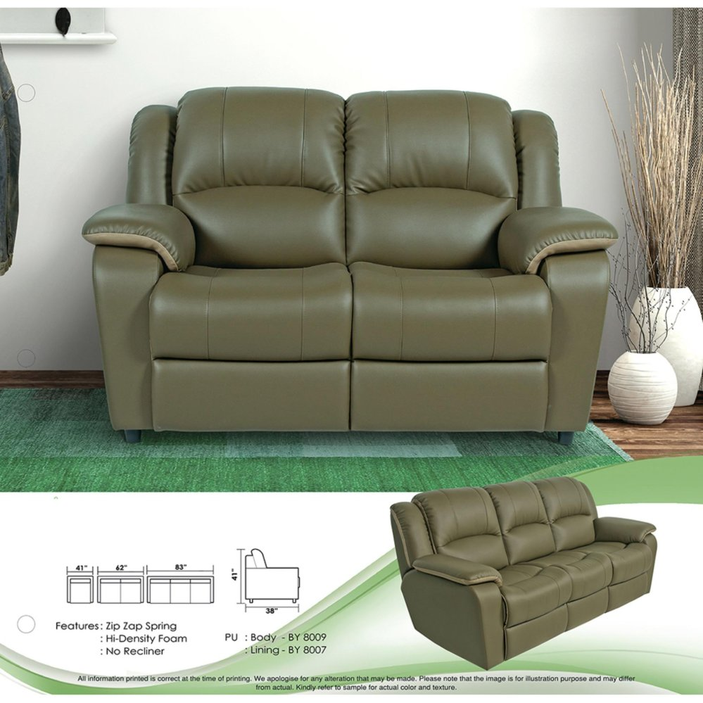 Sofa Set 1+2+3 Fully Leather Sofa Lounge Chair Relax Sofa