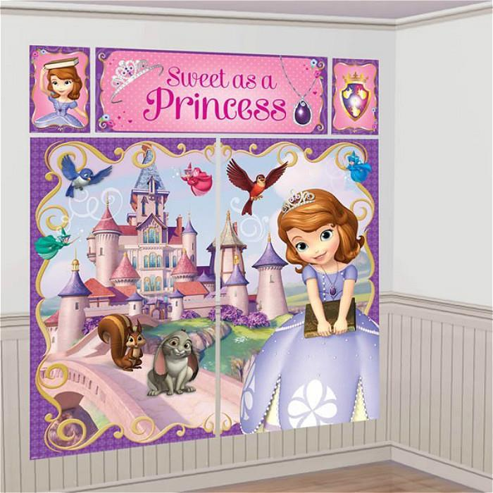 Sofia the First Scene Setter Happy Birthday 6ft FREE GLUE DOTS