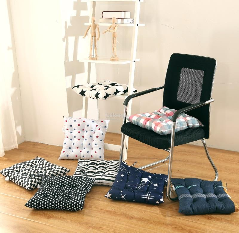Soft Chair Cushion Seat Pad With Ties For Home Dining Office