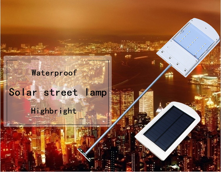 Solar 15 LED Power Light Control Sensor Street Lamp Corridor Spotlight