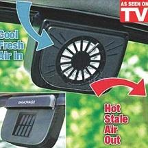 SOLAR CAR AUTO COOLER FAN AS SEEN ON TV