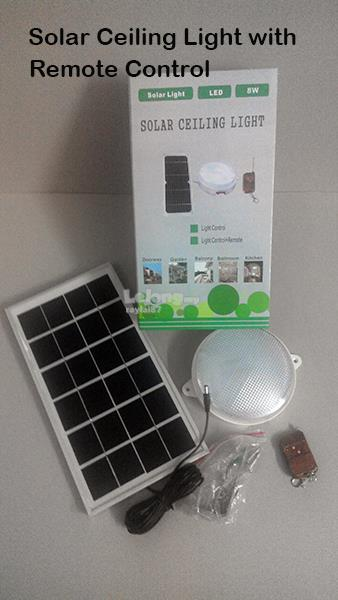 Solar ceiling light 8w with remote c end 9152018 415 pm solar ceiling light 8w with remote control aloadofball Gallery